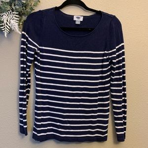 ✨ Old Navy | Navy & White Long Sleeve, Size Small